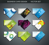 Various Business Card set — Stock Vector