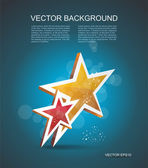 Two gold stars. Vector cinema background. — Stock Vector