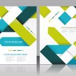 vector design de modelo de folheto com elementos de cubos e setas — Vetorial Stock  #49115141