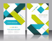 Vector brochure template design with cubes and arrows elements.  — Vecteur