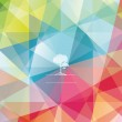 The abstract geometric 3D background. Vector illustration. — Stockvector