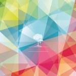 The abstract geometric 3D background. Vector illustration. — Stok Vektör