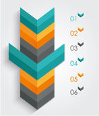 Minimal infographics or Step banners template in Arrow style. Ve — Stockvector
