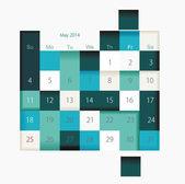 Calendar to schedule monthly, convenient planner  — Stock Vector