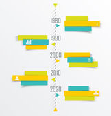 Time Line design template with paper tags. — Stock Vector