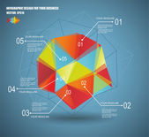 3D vector illustration of geometry infographics — Stockvector