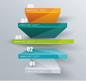 Modern business steps to success, graphs options banner.  — Vector de stock