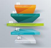 Pasos empresas modernas con éxito, opciones gráficas de la bandera. — Vector de stock