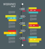 Modern infographics set. Diagram and Time Line design. Vector  — Vecteur