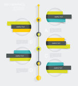 Modern infographics set. Diagram and Time Line design.  — Stock Vector