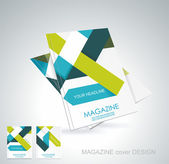 Magazine or brochure template design — Stock Vector