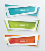 Vector moderne banners of frames element ontwerp. — Stockvector