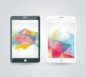 Smartphone, telefon komórkowy na białym tle, realistyczny wektorowego — Wektor stockowy