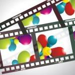Old negative film strip — Stock Vector #8411322