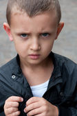 Resentful a little boy — Stock Photo