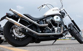 Harley Davidson Dyna Street Glide — Stock Photo