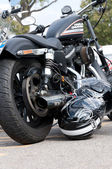 A 2010 built Harley Davidson Sportster 883R — Stock Photo