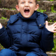 Little cute boy screaming — Stock Photo