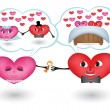 Royalty-Free Stock Vector Image: Dreams of loving hearts