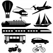 Stock Vector: Collection of transport icons