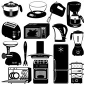 Collection of kitchen appliances — Stock Vector