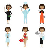 Collection of women's professions — Stock Vector