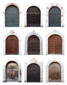 Old wooden doors — Stock Photo