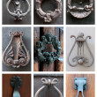Stock Photo: Collage of knockers
