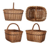 Collage of wicker baskets — Stock Photo