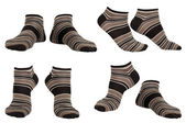 Collage of socks isolated — Stock Photo