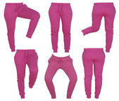 Collage of women's pink pants — Stock Photo