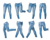 Collage of women's jeans — Stock Photo