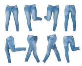 Collage de pantalones vaqueros de las mujeres — Foto de Stock