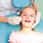 Girl visiting dentists, visit the dentist — Stock Photo #13359732