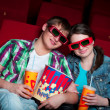 Couple in cinema — Stock Photo