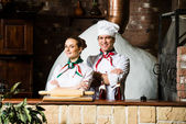 Portrait of two cooks — Stock Photo