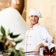 Chef working in kitchen — Stock Photo #15800889