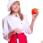 atrakcyjna kobieta gotowania — Zdjęcie stockowe