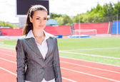 Portrait of a beautiful business woman — Stock Photo