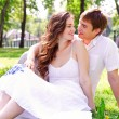 Couple in park — Stock Photo #16857745
