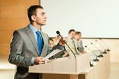Male speaker — Stock Photo