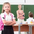 Little girl in classroom — Stock Photo #18003907