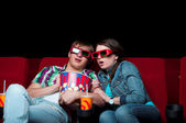 Couple in cinema — Foto de Stock