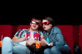 Couple in cinema — Stockfoto