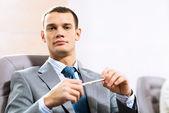 Retrato de un hombre de negocios — Foto de Stock