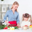 Stock Photo: Family make meal