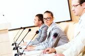группа бизнесменов на презентации — Стоковое фото