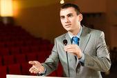 Male speaker — Stock Photo