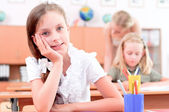 Pupils in classroom — Foto Stock
