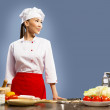 Asian female chef — Stock Photo #18789523